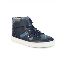 Kids Jungle Jim Leather High-Top Sneakers