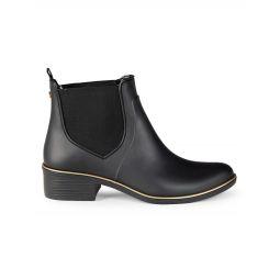 Suzanne Faux Leather Rain Boots