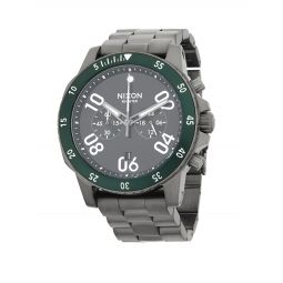 Distressed Stainless Steel Bracelet Watch
