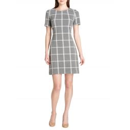 Plaid Knit A-Line Dress
