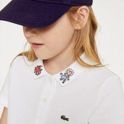 Girls Keith Haring Patterned Cotton Polo