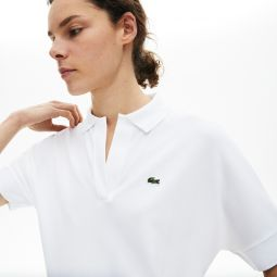 Womens Relaxed Pique Polo
