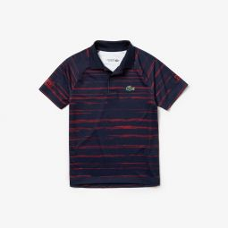 Boys SPORT Novak Djokovic Striped Jersey Polo