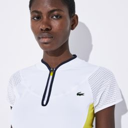 Womens SPORT Breathable Stretch Tennis Polo