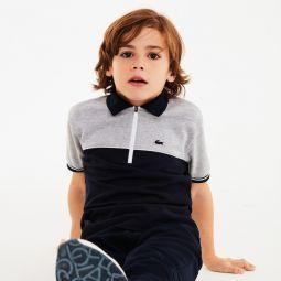 Boys Color-Block Cotton Pique Polo