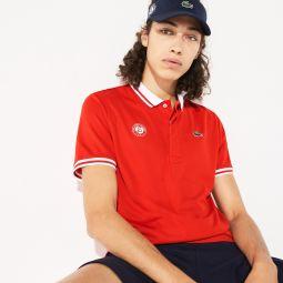 Mens SPORT Roland Garros Breathable Pique Polo Shirt