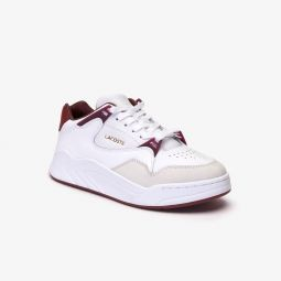 Womens Court Slam Two-Tone Leather Sneakers