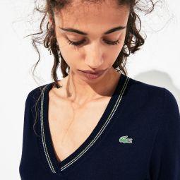 Womens SPORT Technical Wool Blend Golf Sweater
