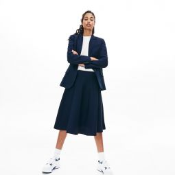 Womens Knee-Length Knit Skater Skirt