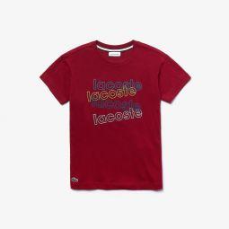 Boys Crewneck Print Cotton T-shirt