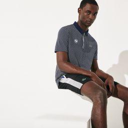 Mens SPORT Roland Garros Print Cotton Polo Shirt