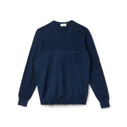 Mens Cotton And Linen Knit Sweater