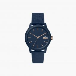 Ladies Lacoste.12.12 Watch with Navy Silicone Petit Pique Strap