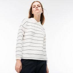 Womens Polo Collar Back Zip Shirt