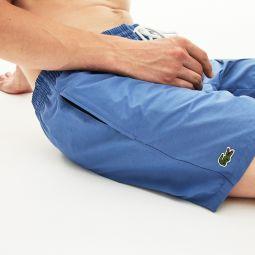 Mens Lightweight Cotton Swim Trunks With Pockets