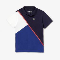 Boys SPORT Color-Block Ultra Light Cotton Tennis Polo