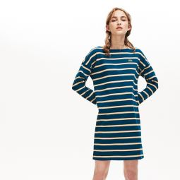 Womens Ribbed Cotton Sailor Dress