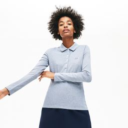 Womens Slim Fit Stretch Mini Pique Polo Shirt