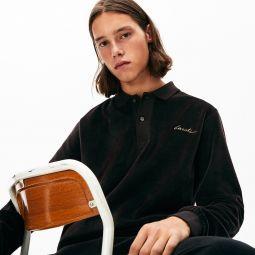 Mens LIVE Classic Fit Velvet Polo Shirt