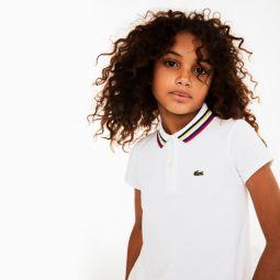 Girls A-Line Cotton Pique Polo