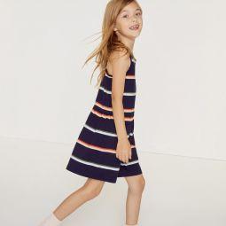 Girls Colorblock Cotton Pique Dress