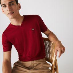 Mens V-neck Pima Cotton Jersey T-shirt