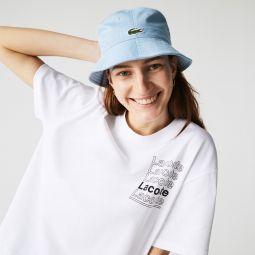 Women's LIVE Crew Neck Loose Print Cotton T-shirt