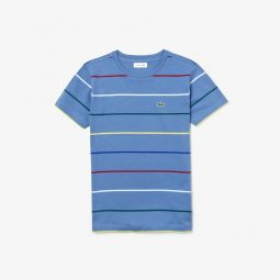 Boys Pinstriped Cotton Crewneck T-Shirt