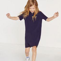 Girls Paneled Cotton Polo Dress