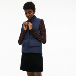 Womens Reversible Cotton And Nylon Twill Quilted Jacket