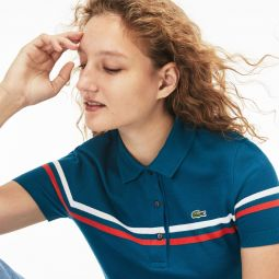 Womens Slim Fit Made In France Cotton Polo