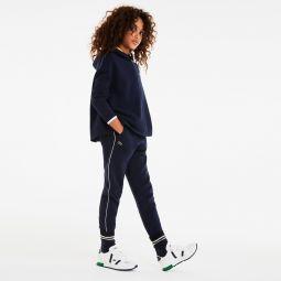 Girls Hooded Pique And Jersey Zip Sweatshirt