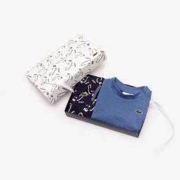 Baby Boys T-shirt And Printed Pants Pajama Gift Set