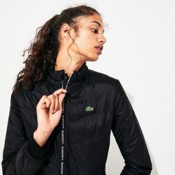 Womens SPORT Quilted Zip-Front Tennis Jacket