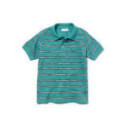 Boys Striped Cotton Mini Pique Polo