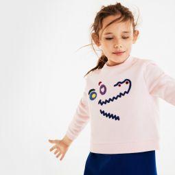 Girls Crewneck Crocodile Fleece Sweatshirt