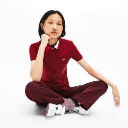 Womens Slim Fit Stretch Pique Polo Shirt