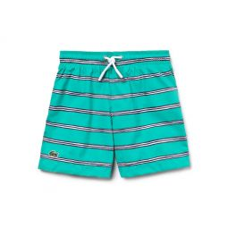 Boys Striped Canvas Swimming Trunks