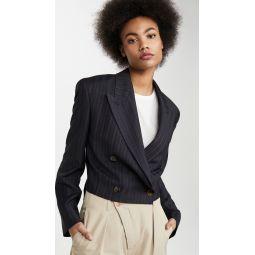 Josie Pinstripe Crop Blazer