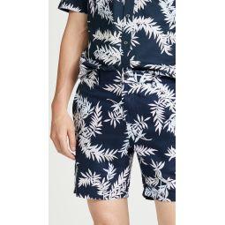 Baxter Bosque Leaves Print Shorts