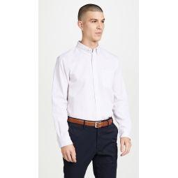 Long Sleeve Button Down Pique Shirt