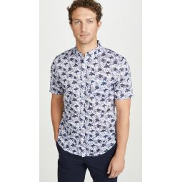 Short Sleeve Button Down Baja Blossom Shirt