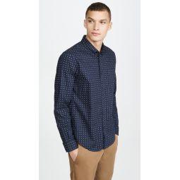 Slim Geo Ditsy Long Sleeve Shirt