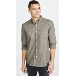 Flannel Herringbone Button Down Shirt