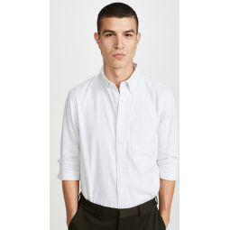 Long Sleeve Jaspe Button Down Shirt