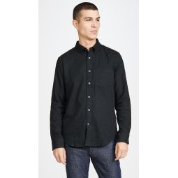 Long Sleeve Button Down Donegal Twill Shirt