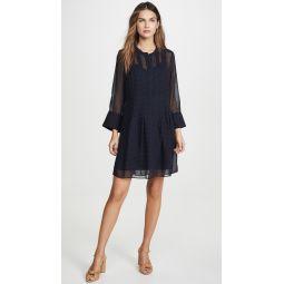 Pintuck Long Sleeve Dress