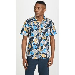 Short Sleeve Psychedelic Floral Shirt