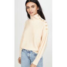 Cashmere Button Neck Sweater