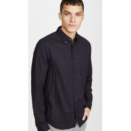 Solid Flannel Long Sleeve Shirt